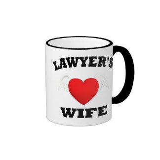 Esposa de los abogados taza a dos colores