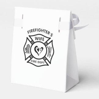 Esposa de los bomberos caja para regalo de boda