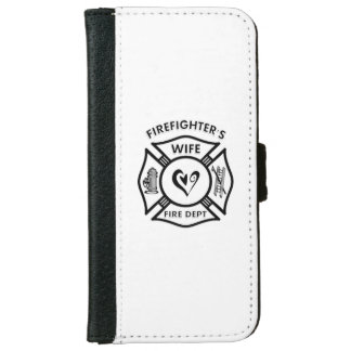 Esposa de los bomberos funda cartera para iPhone 6