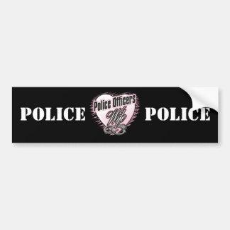 Esposa de los oficiales de policía pegatina de parachoque