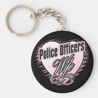 Esposa de los oficiales de policía llaveros personalizados