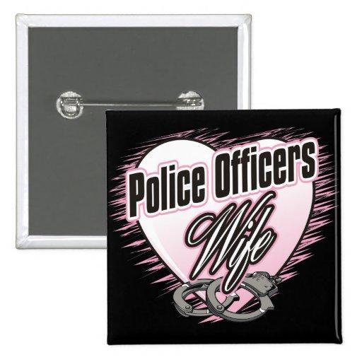 Esposa de los oficiales de policía pin