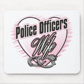 Esposa de los oficiales de policía alfombrilla de raton
