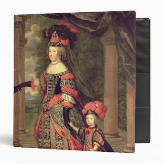 """Esposa de Maria Teresa de Louis XIV Carpeta 1 1/2"""""""