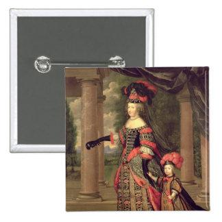 Esposa de Maria Teresa de Louis XIV Pin Cuadrada 5 Cm