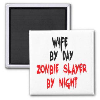 Esposa del asesino del zombi imanes de nevera