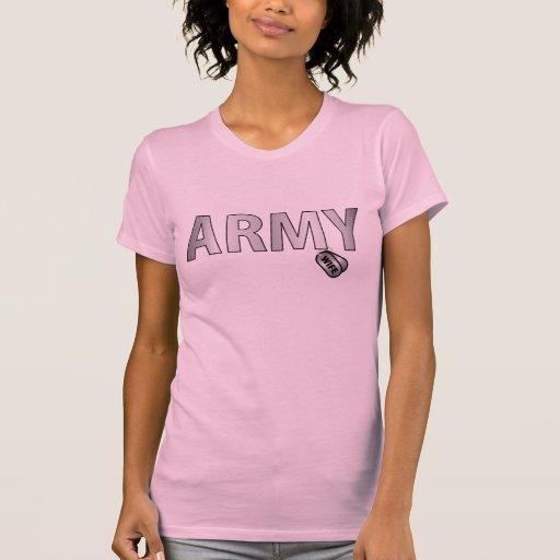 Esposa del ejército camisetas