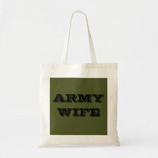 Esposa del ejército del bolso bolsa tela barata