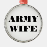 Esposa del ejército del ornamento adornos