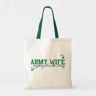 Esposa del ejército - el trabajo más duro en el ej bolsas