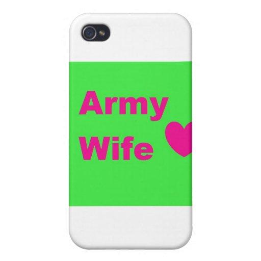 esposa del ejército iPhone 4/4S funda
