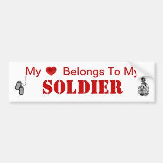 Esposa del ejército o novia del ejército pegatina para auto