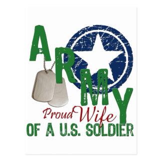 Esposa del ejército - orgullosa postales