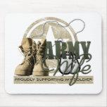 Esposa del ejército - orgulloso apoyo de mi soldad tapete de raton