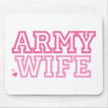 Esposa del ejército (rosa) tapetes de raton