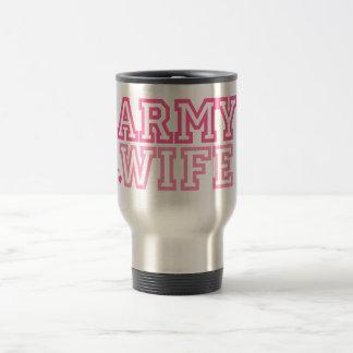 Esposa del ejército rosa tazas
