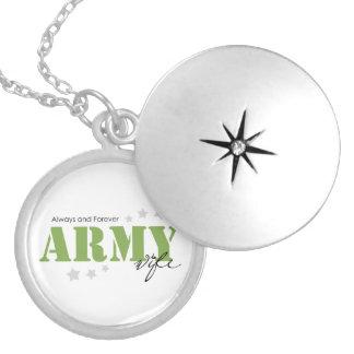 Esposa del ejército - siempre y para siempre collar plateado