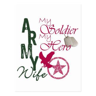 Esposa del ejército - soldado tarjeta postal