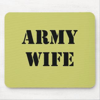 Esposa del ejército tapete de ratón