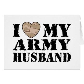 Esposa del ejército tarjetas