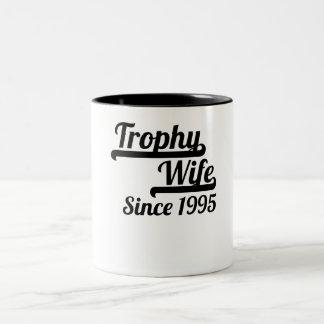 Esposa del trofeo desde 1995 taza de dos tonos