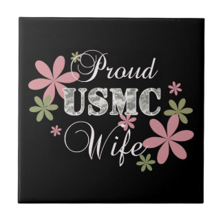 Esposa del USMC [camo de la Florida] Azulejo Cuadrado Pequeño