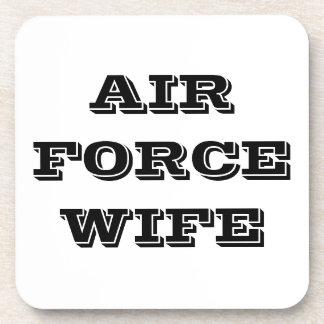 Esposa determinada de la fuerza aérea del práctico posavasos