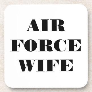 Esposa determinada de la fuerza aérea del práctico posavasos de bebidas