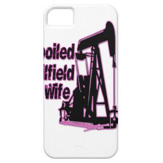 Esposa estropeada rosa del campo petrolífero iPhone 5 Case-Mate carcasas