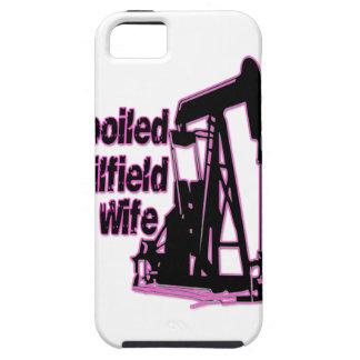 Esposa estropeada rosa del campo petrolífero funda para iPhone SE/5/5s