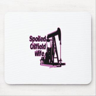 Esposa estropeada rosa del campo petrolífero tapetes de raton
