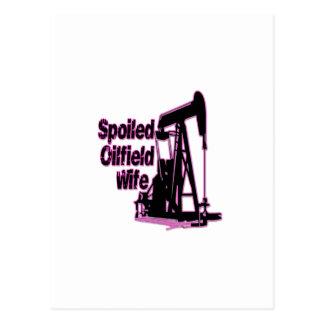 Esposa estropeada rosa del campo petrolífero postales