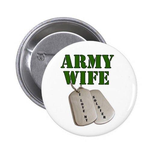 esposa-etiquetas del E.E.U.U.-ejército Pin Redondo 5 Cm