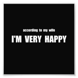 Esposa feliz fotografías