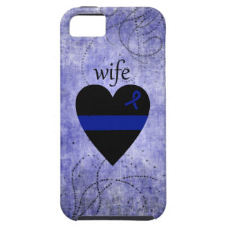 Esposa fina de la policía del corazón de Blue Line iPhone 5 Case-Mate Protectores