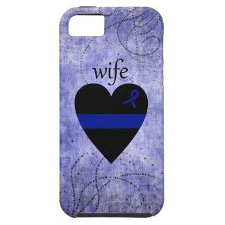 Esposa fina de la policía del corazón de Blue Line iPhone 5 Fundas