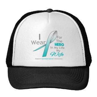 Esposa - héroe en mi vida - cáncer de cuello del ú gorros