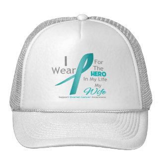Esposa - héroe en mi vida - cáncer ovárico gorros