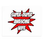 Esposa impresionante estupenda de Duper Tarjeta Postal