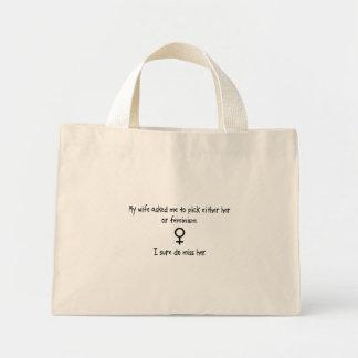 Esposa o feminismo de la selección bolsa de mano