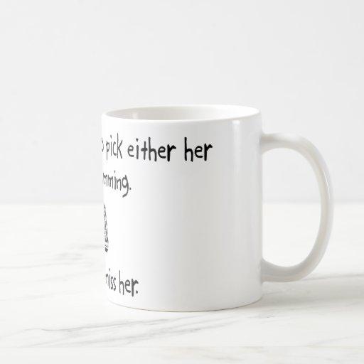 Esposa o programación de la selección tazas de café