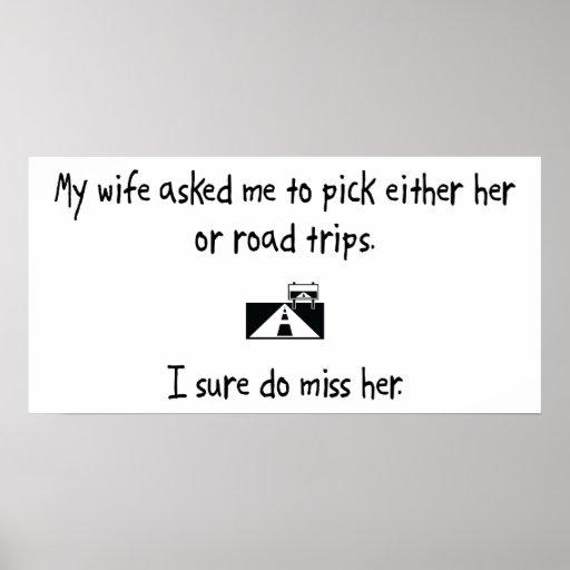 Esposa o viajes por carretera de la selección poster
