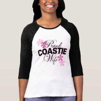 Esposa orgullosa de Coastie Remeras