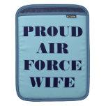 Esposa orgullosa de la fuerza aérea de la manga de fundas para iPads