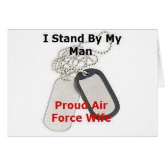 Esposa orgullosa de la fuerza aérea felicitación