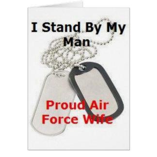 Esposa orgullosa de la fuerza aérea tarjetón