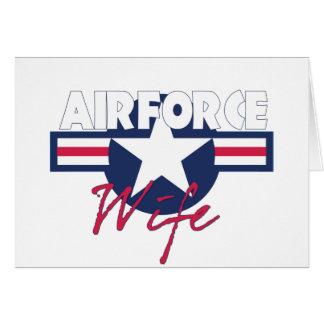 Esposa orgullosa de la fuerza aérea tarjeton
