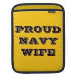 Esposa orgullosa de la marina de guerra de la manga de iPad