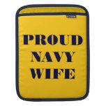 Esposa orgullosa de la marina de guerra de la funda para iPads