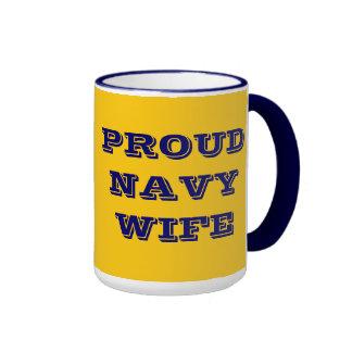 Esposa orgullosa de la marina de guerra de la taza